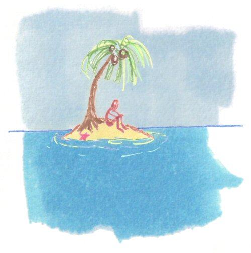 Beneath a Palm Tree on a Desert Isle