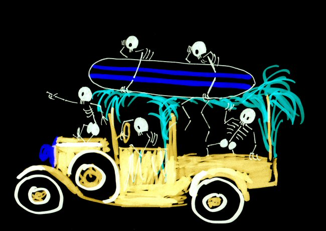 Skeleton Surfin' Safari