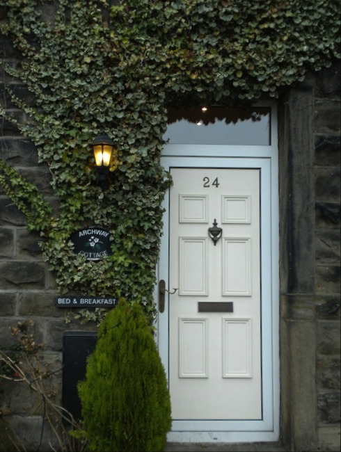 Entrance to the Archway Cottage in Ilkley, Yorkshire, England