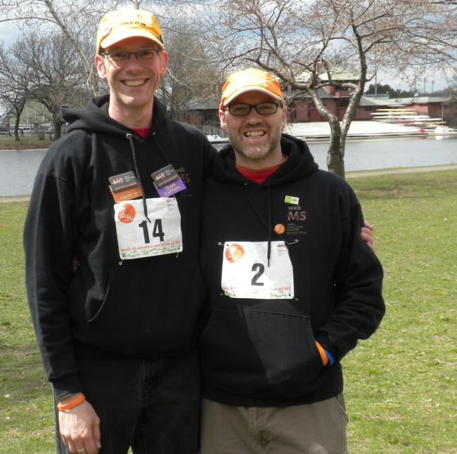 Mark and Kraig at the MS Walk