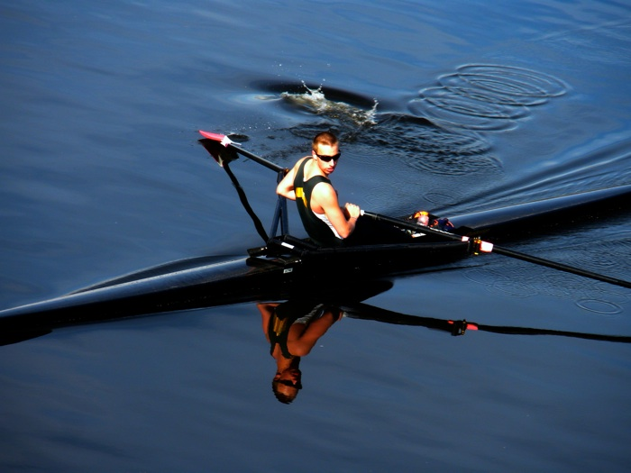 Sculler on the Charles Rvier